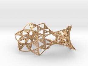 Sierpinski Triangle Mobius in Natural Bronze