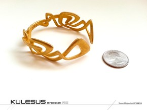Kuleses Bracelet : The infinite Loop in Polished Gold Steel