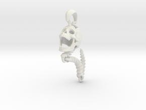 Skull Pendant | Clone in White Premium Versatile Plastic