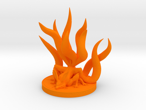 Nine-tailed Demon Fox in Orange Processed Versatile Plastic