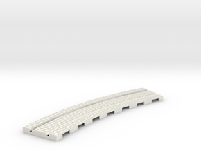p-14stw-curve-tram-long-250r-plus-w-1a in White Natural Versatile Plastic
