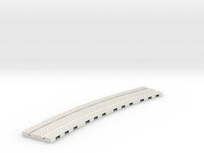p-14stw-curve-tram-long-2r-w-1a in White Natural Versatile Plastic