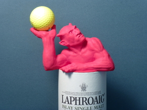 Scotch-sized golf ball devil in Pink Processed Versatile Plastic