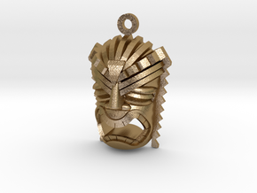 Ku Tiki Pendant in Polished Gold Steel