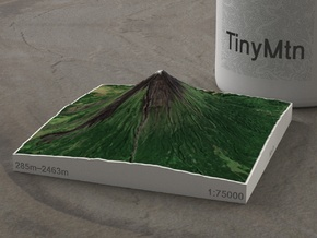 Mayon Volcano, Philippines, 1:75000 in Natural Full Color Sandstone