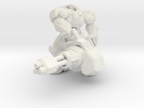 1/60 Terran Hero Soldier Tychus starcraft miniatur in White Natural Versatile Plastic