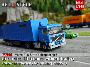 Volvo F10 4x2 tractor (British N 1:148) in Smooth Fine Detail Plastic