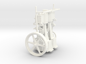 Two Cylinder Vertical Engine 1=22 in White Processed Versatile Plastic