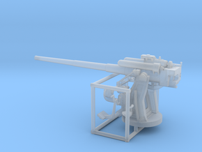 1/87 IJN Type 10 120mm Dual Purpose Gun in Smooth Fine Detail Plastic