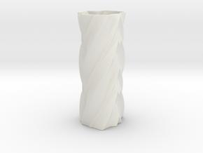 Dolores Vase in White Natural Versatile Plastic