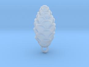 Pine Cone Pendant in Smoothest Fine Detail Plastic