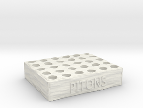 Piton Holder for 'Mountaineers' Boardgame in White Natural Versatile Plastic