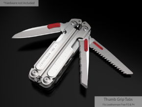 Thumb Tabs for the FREE P4 in Red Processed Versatile Plastic