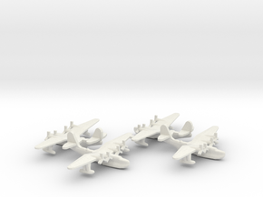 Russian Tupolev MTB-2 Flying Boat (x4) in White Natural Versatile Plastic