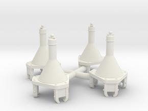 HHl-3 1/9 in White Natural Versatile Plastic