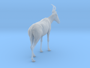 Western hartebeest 1:22 Standing Male in Smooth Fine Detail Plastic