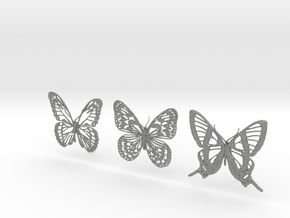 Butterfly Hair Pins in Gray PA12