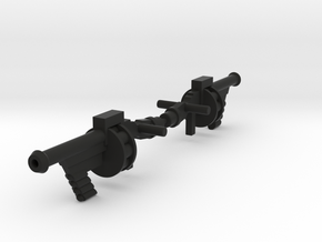 Space Splurge Guns for Micronauts in Black Natural Versatile Plastic