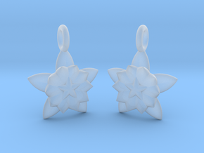 Flower Earrings in Smooth Fine Detail Plastic