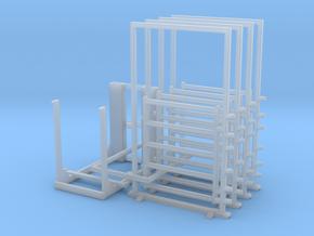 H0 1:87 Weidezaunpanel Türe und Transportgestell in Smooth Fine Detail Plastic