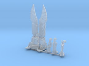15mm scale Cleopatra Throne with Cleopatra sitting in Smooth Fine Detail Plastic