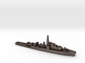 HMS Loch class 1:1800 WW2 frigate in Polished Bronzed-Silver Steel