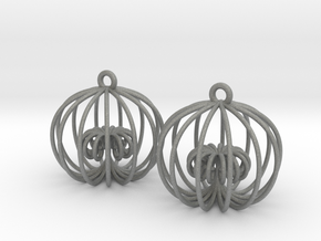 Golden Ratio Cage Earings  --mk1 in Gray PA12