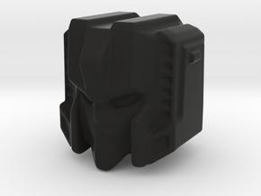 Starscream Ghost head 15 mm with 4 mm click sphere in Black Natural Versatile Plastic