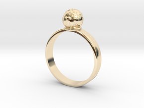 The Earth is not Flat in 14K Yellow Gold