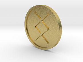 Ing Coin (Anglo Saxon) in Natural Brass