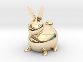 [1DAY_1CAD] RABBIT in 14K Yellow Gold