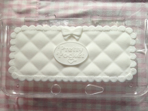 Pretty Pocket Decoration for 3DS XL in White Strong & Flexible