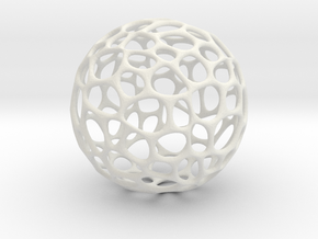 Hollow Ball in White Natural Versatile Plastic