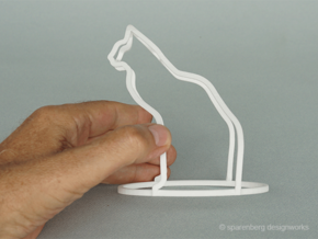 Cat/Dog Flip (h=13cm) in White Natural Versatile Plastic