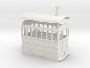 00 Scale Freelance Steam Tram Engine in White Natural Versatile Plastic