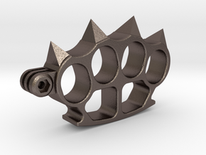 Gopro aggressive support in Polished Bronzed-Silver Steel