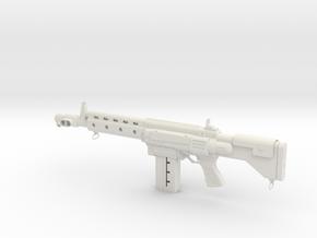 Scifi Rifle in White Natural Versatile Plastic: Small