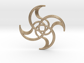 Spiralina in Polished Gold Steel