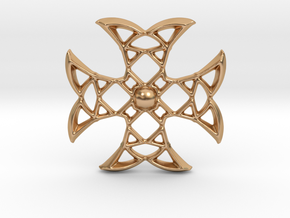 Pointed Cross in Polished Bronze