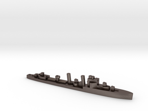 HMS Exmouth 1:3000 WW2 destroyer in Polished Bronzed-Silver Steel