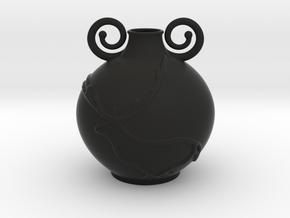 Deer Vase in Black Natural Versatile Plastic