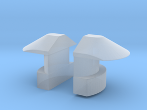 1/35 DKM UBoot VIIC Navigation light SET x2 in Smooth Fine Detail Plastic