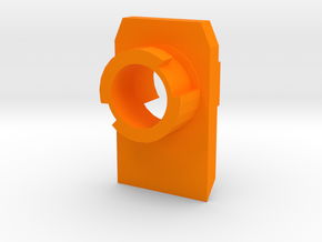 Modulus Barrel Adapter for FlipFury in Orange Processed Versatile Plastic