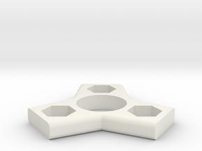 Micro Fidget Spinner in White Natural Versatile Plastic