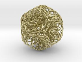 Fusion zulu flower in 18k Gold Plated Brass