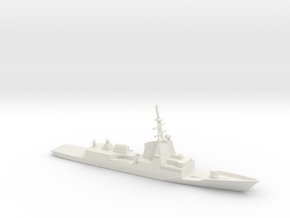 1/700 Scale HMAS Hobart D-39 Class Destroyer in White Natural Versatile Plastic