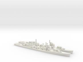 Japanese Akizuki-class Destroyer (x2) in White Natural Versatile Plastic