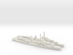 US Gearing-class Destroyer (x2) in White Natural Versatile Plastic