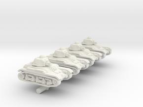1/285 French Renualt x4 in White Natural Versatile Plastic