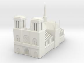 Notre Dame de Paris 1/1000 in White Natural Versatile Plastic